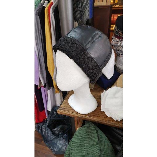 Leder Mütze (Kunstleder)