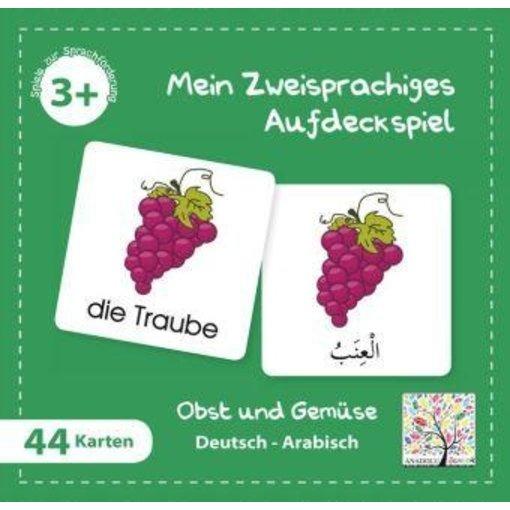 Mein Zweisprachiges Aufdeckspiel, Obst und Gemüse, Arabisch (Kinderspiel)