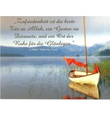 Zufriedenheit - Postkarte - PK26