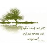 Allah nimmt & gibt - Postkarte - PK24