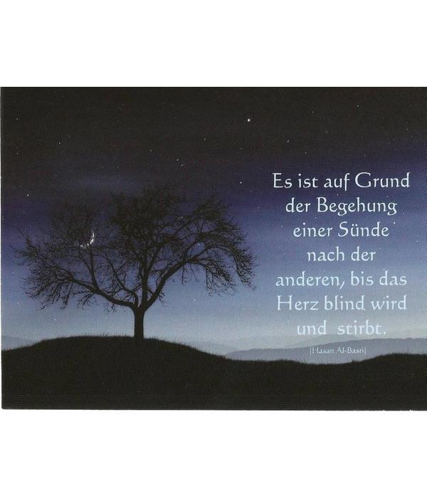 Das blinde Herz - Postkarte - PK23
