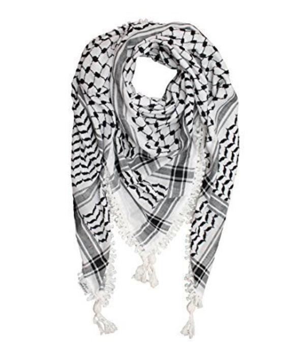 Kufiyah Palestine Tuch (Schwarz - & Rot Weiss)