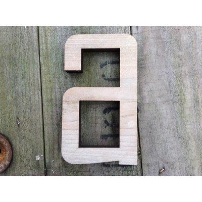 Steigerhout: Letters in hout - Agency - 9cm - Kleine