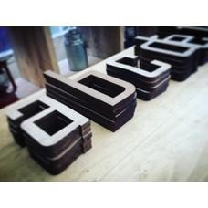 Steigerhout: Letters in hout - Agency - 17cm - Kleine
