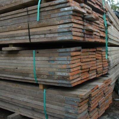 Steigerhout: Gebruikt Steigerhout dikte - 3,6cm dikte - lengte 3,9m