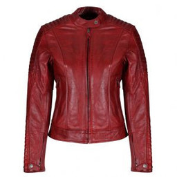 Motogirl Valerie Leather Jacket Red