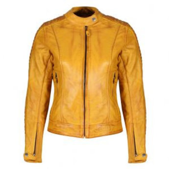 Motogirl Valerie Leather Jacket Yellow