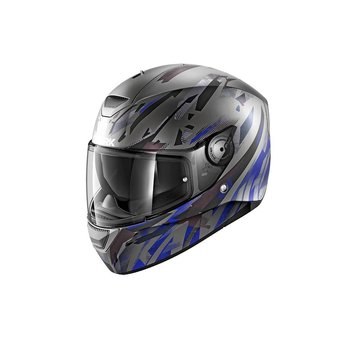 Shark Helmets D-SKWAL KANHJI MAT   ANTRACITE BLUE BLACK