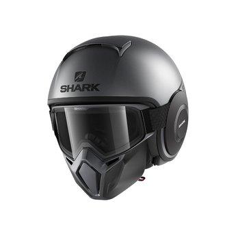 Shark STREET DRAK NEON SERIE MAT ANTHRACITE BLACK BLACK