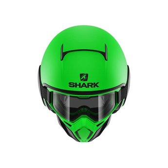 Shark STREET DRAK NEON SERIE MAT GREEN BLACK BLACK