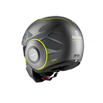Shark Helmets STREET DRAK HUROK MAT ANTHRACITE YELLOW BLACK