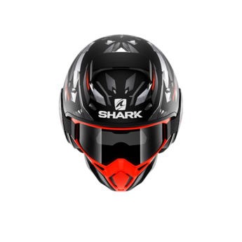 Shark Helmets STREET DRAK KANHJI MAT BLACK ORANGE SILVER