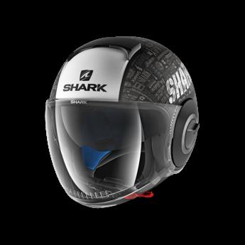 Shark Helmets SHARK NANO TRIBUTE RM MAT BLACK WHITE ANTHRACITE
