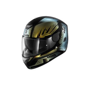 Shark Helmets D-SKWAL DHARKOV Mat   BLACK GREEN GLITTER