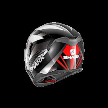 Shark Helmets D-SKWAL MERCURIUM   BLACK WHITE RED
