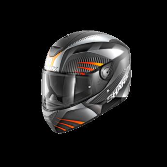 Shark Helmets D-SKWAL MERCURIUM MAT   BLACK ANTHRACITE ORANGE