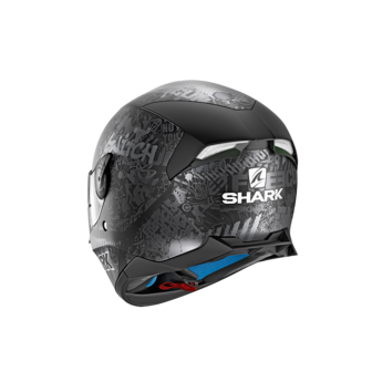 Shark SKWAL 2 SWITCH RIDER 2 MAT  BLACK ANTHRACITE SILVER
