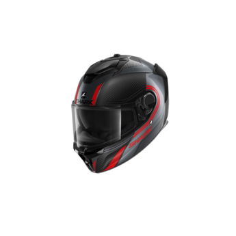 Shark Spartan GT Carbon Tracker Carbon Anthracite Red
