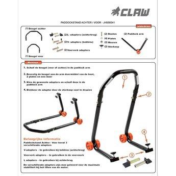 CLAW Claw Paddockstand Premium Achter / Voor