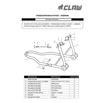 CLAW Claw Paddockstand Achter