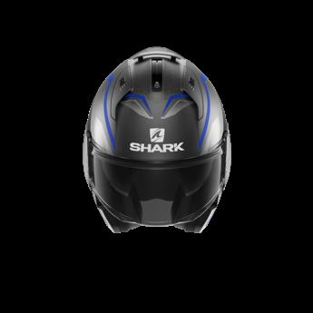 Shark EVO ES YARI Mat    Antracite Blue Silver