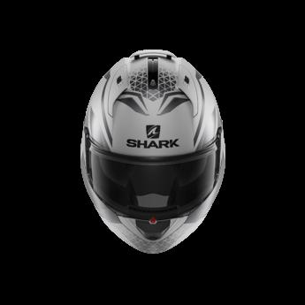 Shark EVO ES YARI Mat    Silver Antracite Black