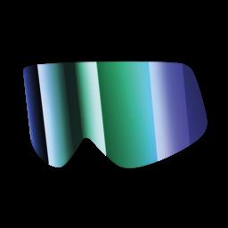 Shark Lens Mirrored Irridium Green