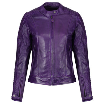 Motogirl Valerie Leather Jacket Purple