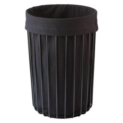 AQUANOVA Laundry basket RONDO Black-09 (height 56 cm) color black (RONLAL-09)