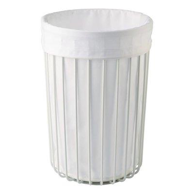 AQUANOVA Laundry basket RONDO White-43 (height 56 cm) color white (RONLAL-43)