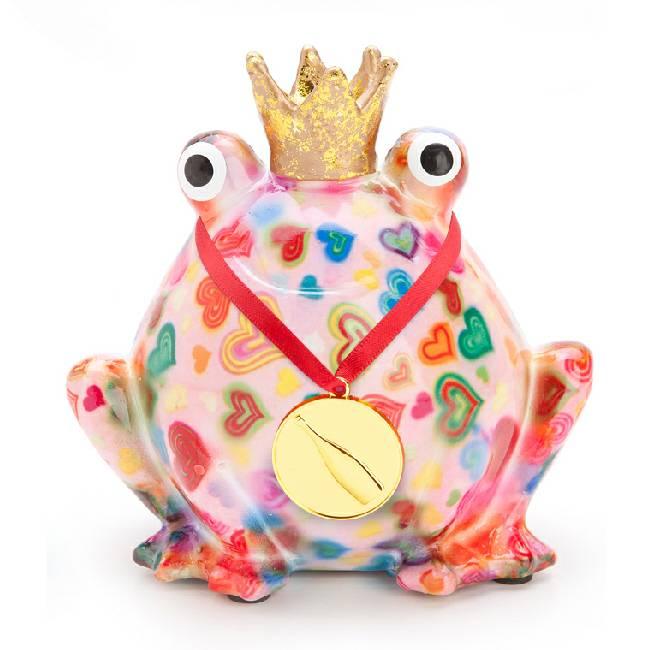 Spaarpot Wish-a-billy gefeliciteerd roze met hartjes