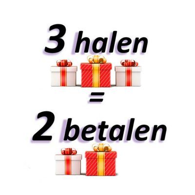 3 Halen = 2 Betalen