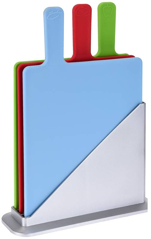 Snijplankenset in houder (3-delig)