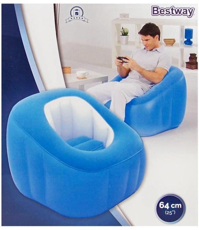 Lounge Comfi Cube blauw