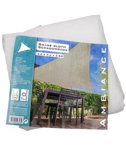 Luxe Schaduwdoek wit 3.6m x 3.6m x 3.6m
