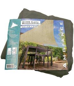 Luxe Schaduwdoek grijs-groen 3.6m x 3.6m x3.6m