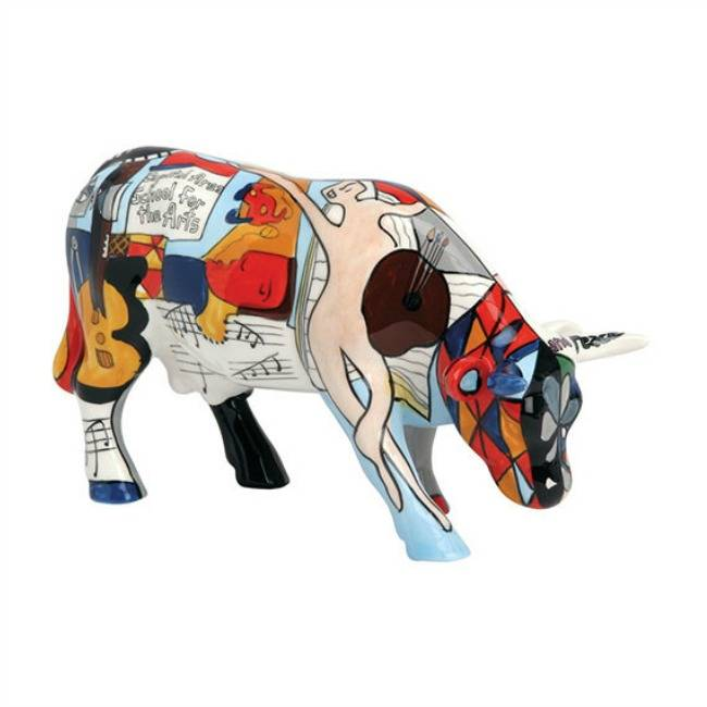 Cow Parade Picowso´s School for the Arts (medium ceramic)