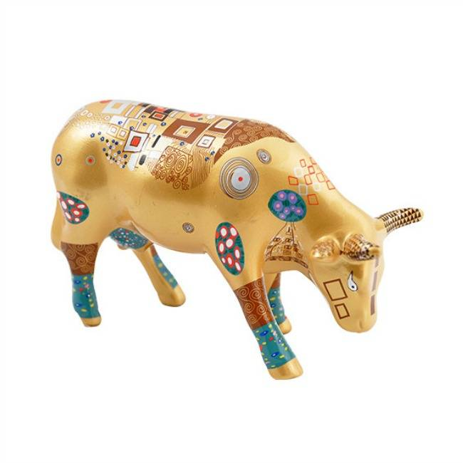 Cow Parade Klimt Kow (medium ceramic)