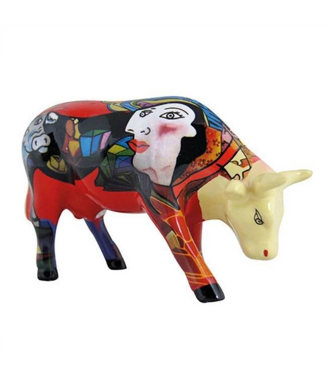 Cow Parade Homage to Picowso's African Period (medium ceramic)