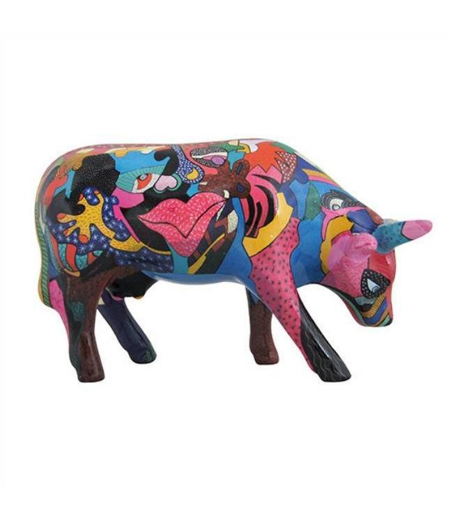 Cow Parade Partying with Pi-COW-sso (medium ceramic)