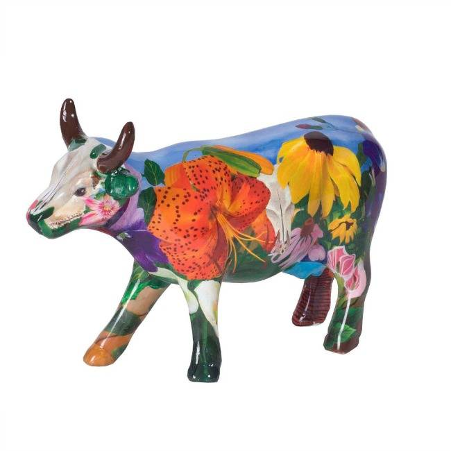 Cow Parade Georgia O apos Kowffe (medium ceramic)