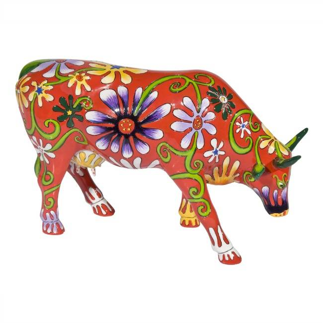 Cow Parade Flower Lover Cow (large)