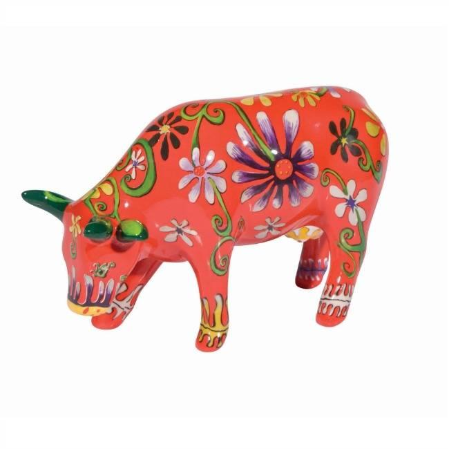 Cow Parade Flower Lover Cow (medium ceramic)