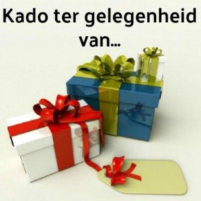 Kado ter gelegenheid van