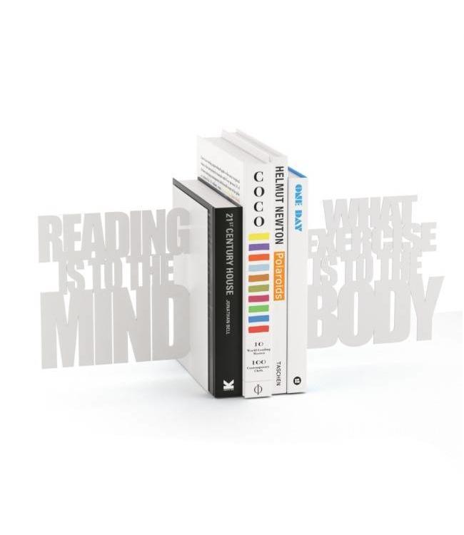 Balvi Boekensteun Reading is to the Mind - Wit
