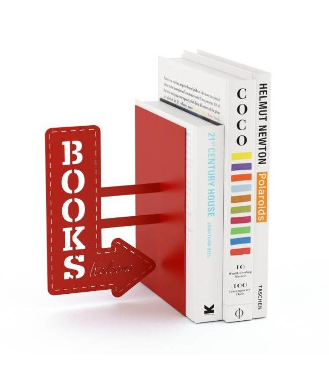 Boekensteun Bookshop - Rood