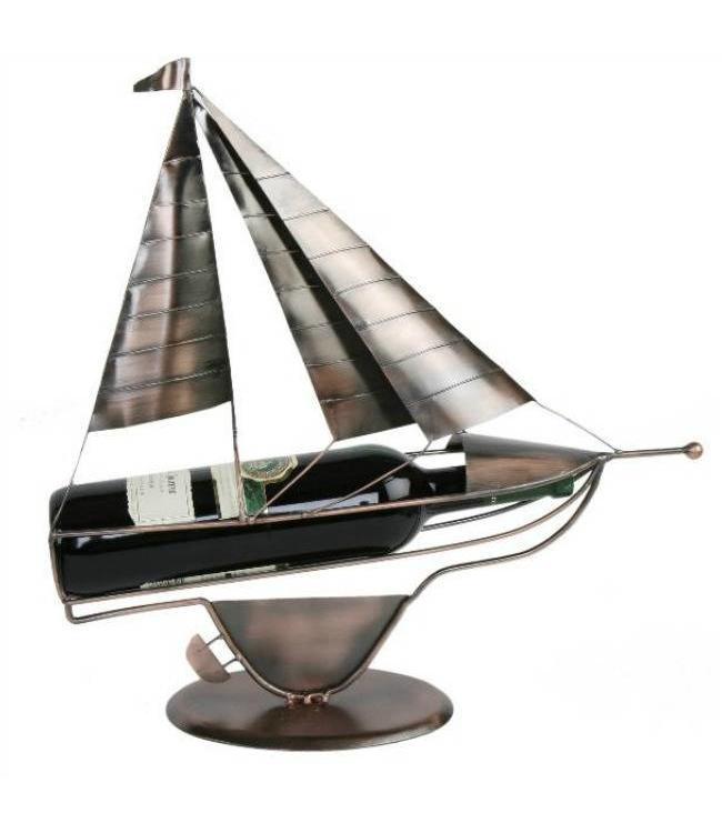 Wijnfleshouder Zeilboot