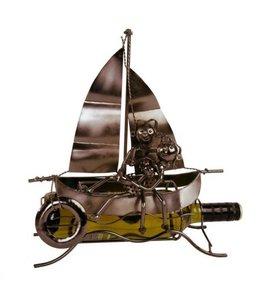 Wijnfleshouder Verliefd stel op de boot