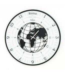 Wandklok World Clock