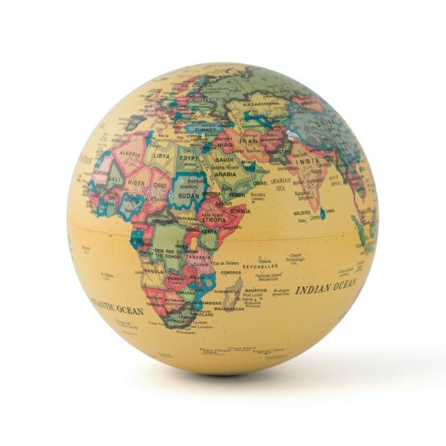 Magische roterende wereldbol globe
